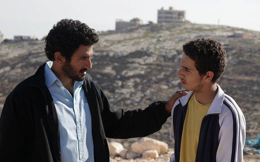 Razi, left, and Sanfur, played by Tsahi Halevy and Shadi Mar'i (Photo credit: Vered Adir/ Courtesy)