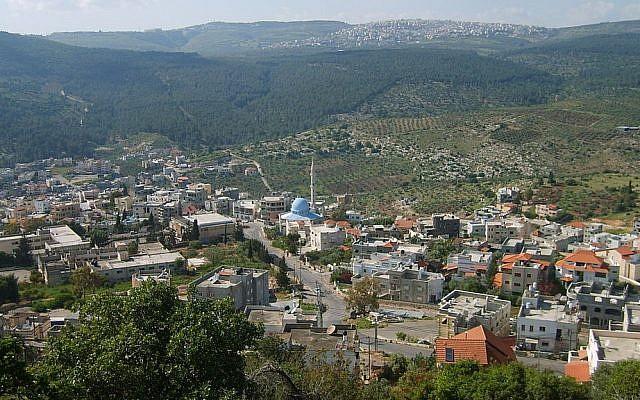 View of the village of Daburiyya (photo credit: CC BY Wikipedia)