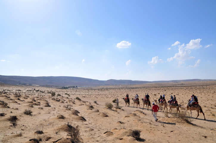 A landscape view of the Negev desert. (Photo credit: Shay Levy/ Flash90)