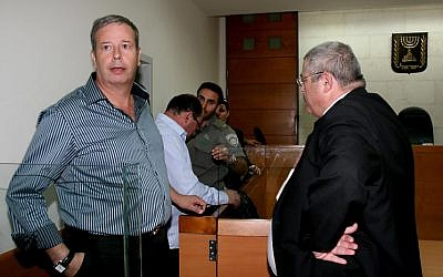 Upper Nazareth Mayor Shimon Gapso in court in 2010 (photo credit: Gideon Markowicz/Flash90)