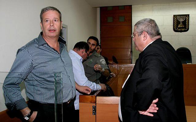 Upper Nazareth Mayor Shimon Gapso in court in 2010 (photo credit: Gideon Markowicz/Flash90)