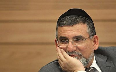Knesset Ethics Committee chairman MK Yitzhak Vaknin of Shas (Miriam Alster/Flash90)
