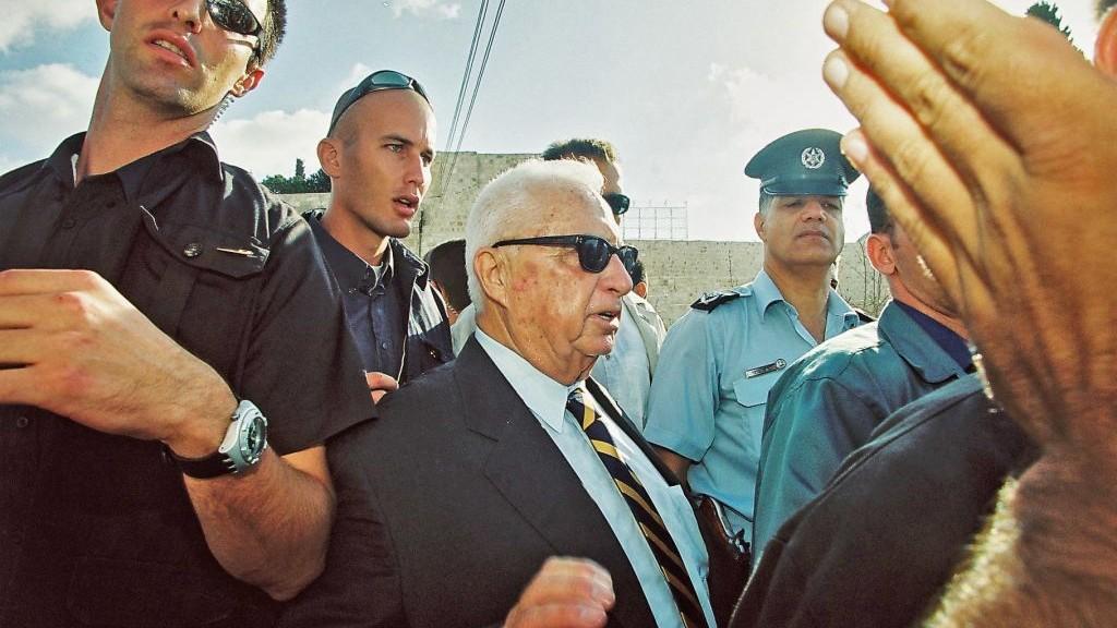 Ariel Sharon visits the Temple Mount, September 28, 2000. (photo credit: Flash90)