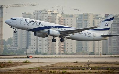 Illustrative photo of an El Al flight taking off. (Moshe Shai/Flash90)