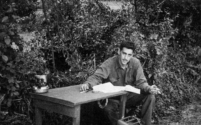 J.D. Salinger working on 'Catcher in the Rye' during World War II. (photo credit: AP/The Story Factory, Paul Fitzgerald)