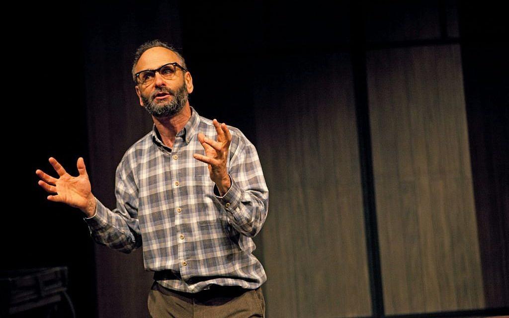 """Alon Nashman as John Hirsch in """"Hirsch."""" (photo credit:  Cylla von Tiedemann)"""