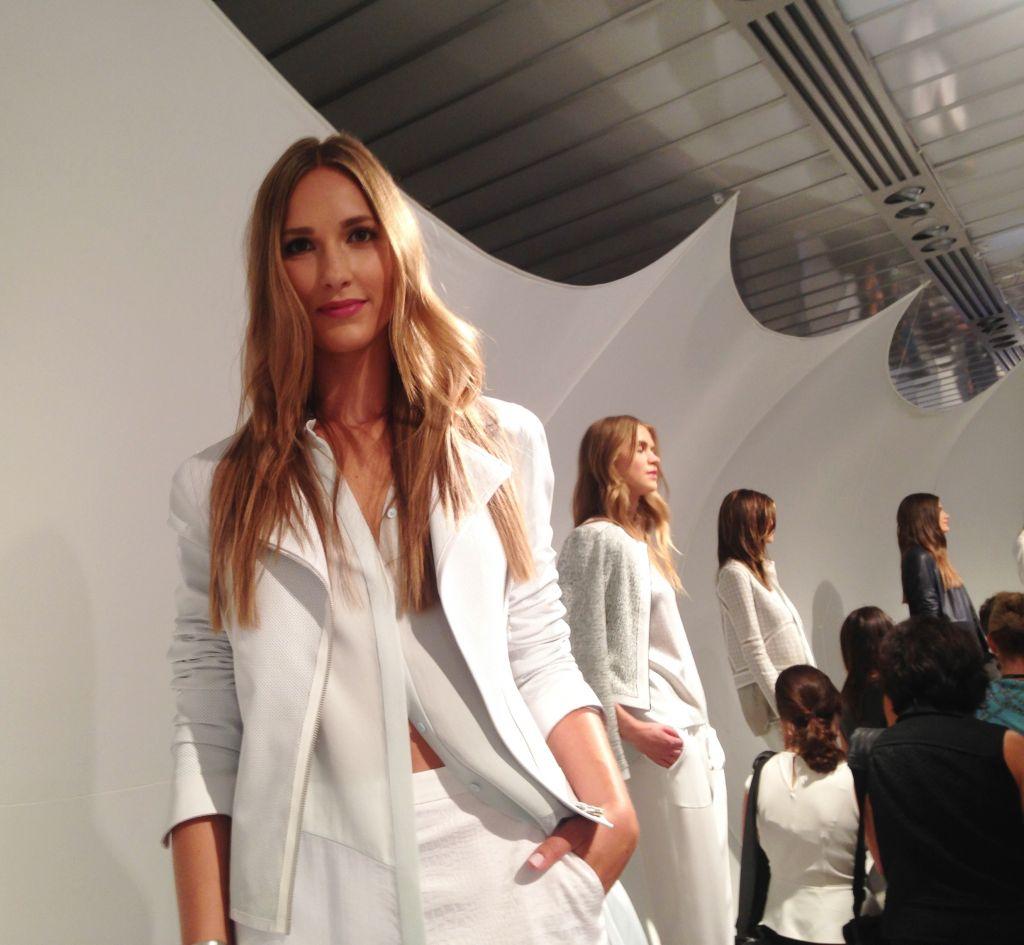 Models in white at the Tahari event (Courtesy Eliora Katz)