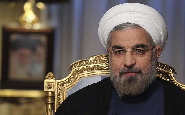 Iranian President Hassan Rouhani speaks during an interview with state television in September 2013, in Tehran, Iran (photo credit: AP/Presidency Office/Rouzbeh Jadidoleslam)