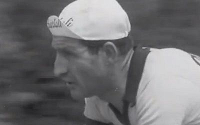 Italian cyclist Gino Bartali (screen capture: YouTube)