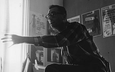 Undated photo of John Hirsch in his Manitoba Theatre Center office (photo credit: courtesy of Manitoba Theatre Center)