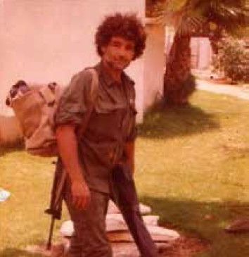 Meir Ariel, on leave from Lebanon, 1983 (photo credit: Courtesy of Tirza Ariel)
