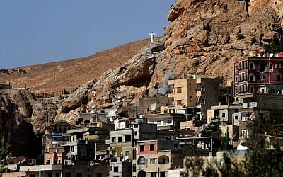 Maaloula, some 40 miles northeast of Damascus, Syria (photo credit: AP/SANA)