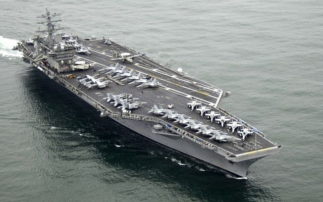 The USS Nimitz (photo credit: US Navy/Wikipedia)