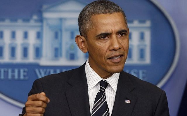 US President Barack Obama (photo credit: AP/Charles Dharapak)