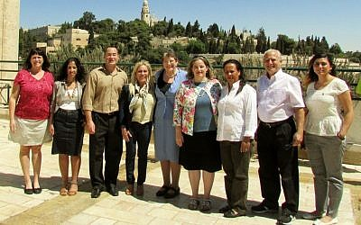 Members of Jerusalem's Ometz Lev faction (from left to right): Susan Silverman, Tehila Mazal, Shlomo Goldman, Debby Ben Ami, Naomi Tsur, Edna Friedman, Yaffa Sahalo, David Meron and Michal Okashi-Ga'ash (photo credit: Courtesy)