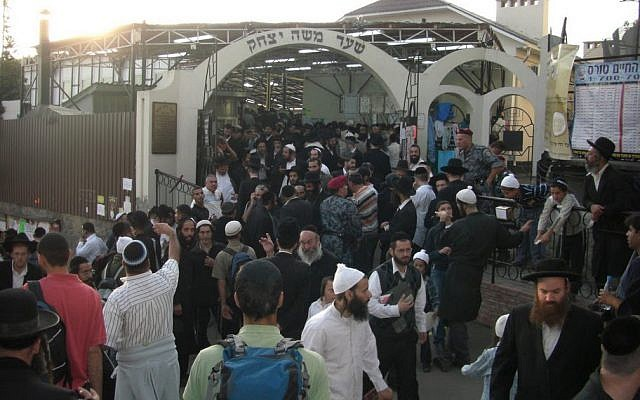 Worshippers at the tomb of Rabbi Nachman in Uman, Ukraine (CC BY-SA Nahoumsabban, Wikimedia Commons via JTA)