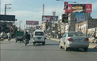 An illustrative photo of Peshawar, northwestern Pakistan (photo credit: CC BY-SA/Omer Wazir, Flickr)