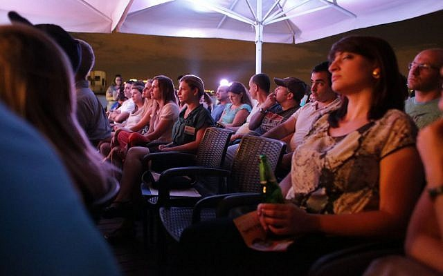 A view of the audience at a Kol Oleh-sponsored debate in Tel Aviv, Monday, September 16, 2013 (photo credit: courtesy Guy Seemann)