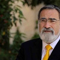 Rabbi Jonathan Sacks. (Courtesy Core18)