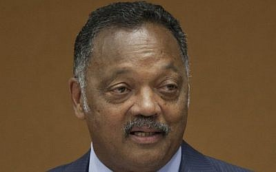 Reverend Jesse Jackson, shown here speaking at the United Nations in 2012 (photo credit: CC-BY-United States Mission Geneva/Wikimedia Commons)
