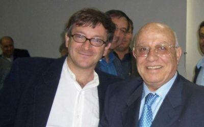 A recent photo of Ron Pundak, left, and Abu Ala (photo credit: courtesy Ron Pundak)