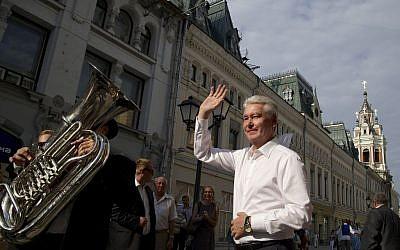 Moscow mayor Sergei Sobyanin. (photo credit: AP Photo/Alexander Zemlianichenko)