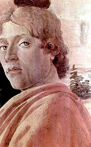 Sandro Botticelli, in a possible self-portrait from his 1475 Adoration of the Magi (photo credit: The Yorck Project/Wikipedia Commons