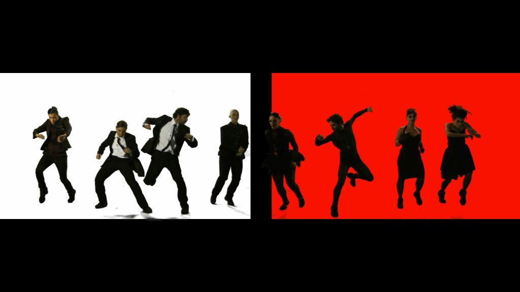 Split-screen of dancers in Screensart (Courtesy Screensart)