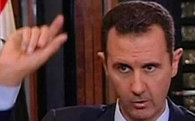 Syrian President Bashar Assad (photo credit: AP/CBS)