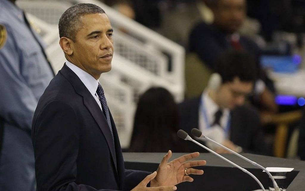 US President Barack Obama speaks during the 68th session of the General Assembly at United Nations headquarters Tuesday, Sept. 24, 2013. (photo credit: AP Photo/Seth Wenig)