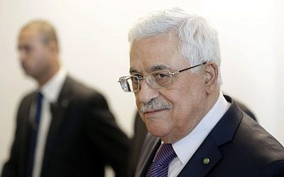 Palestinian Authority President Mahmoud Abbas during the 68th session of the General Assembly at United Nations headquarters on Thursday, Sept. 26, 2013. (photo credit: AP/Seth Wenig)