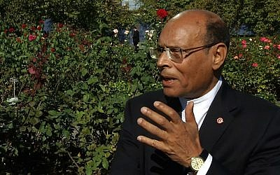 Tunisian President Moncef Marzouki (photo credit: AP)