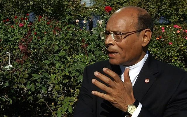 Tunisian President Moncef Marzouki (photo credit: AP)