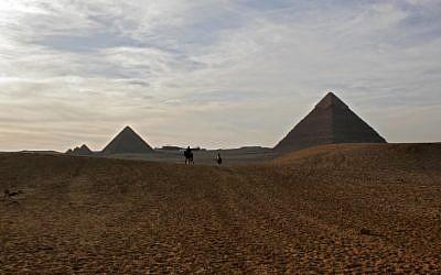 The Giza Pyramids, near Cairo, Egypt, March 30, 2006 (photo credit: Melanie Fidler /Flash90)