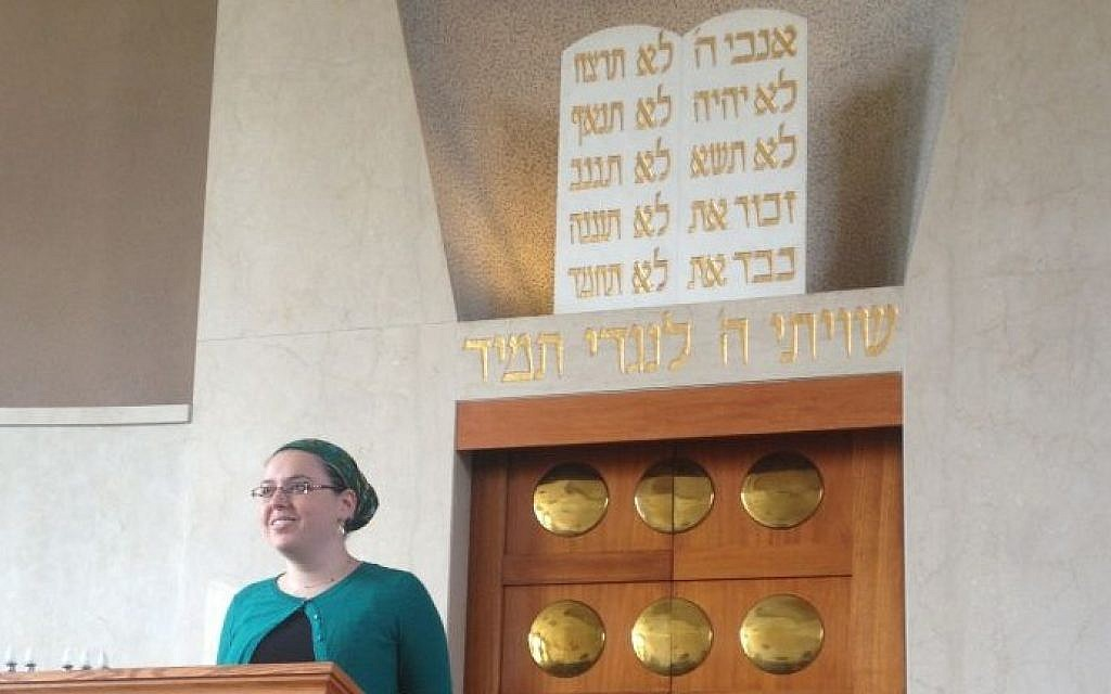 Maharat Ruth delivered the sermon on the second day of Rosh Hashanah just one month into her new job. (photo credit: Ben Zehavi)