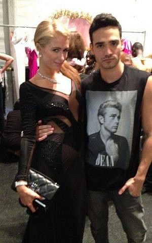 Alon Livne and his fashion buddy, Paris Hilton (Courtesy Alon Livne Facebook)
