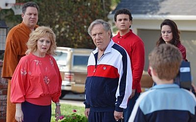 A scene from the ABC show 'The Goldbergs,' starring Jeff Garlin, Wendi Mclendon-Covey and George Segal. (photo credit: ABC/Eric McCandless)
