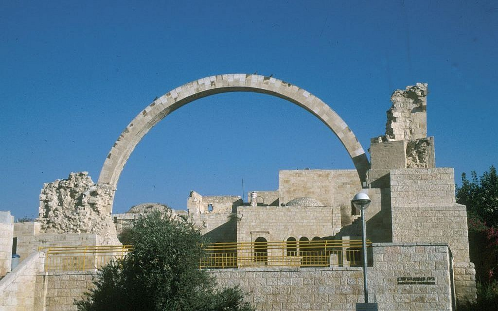 Jerusalem landmark -- the old arch (photo credit: Shmuel Bar-Am)