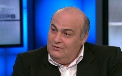Jewish Iranian MP Siamak Moreh Sedgh during an interview with CNN's Fareed Zakaria, Sunday, September 29, 2013 (photo credit: CNN screen cap)