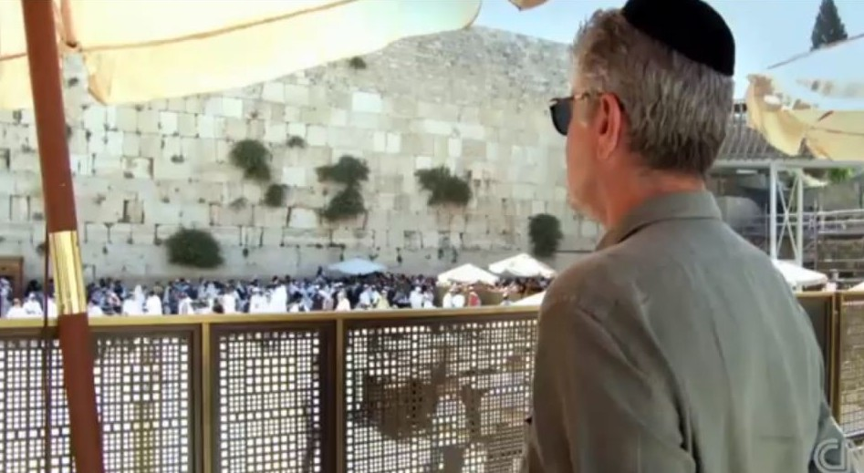 Anthony Bourdain at the Western Wall