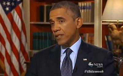 US President Barack Obama speaks on ABC's 'This Week' program, Sunday September 15, 2013 (via YouTube)
