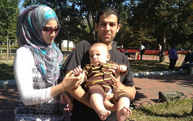 The Alskka family, outside the White House, September 30 (photo credit: Raphael Ahren/Times of Israel)