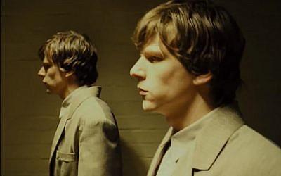 Jesse Eisenberg in 'The Double,' a whimsical and highly stylized adaptation of the Dostoyevsky novella. (photo credit: courtesy Film 4)