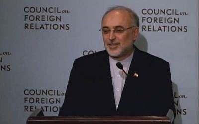 Iranian Foreign Minister Mohammad Javad Zari. (screen capture: Youtube/CFR)