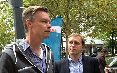 CDU candidate Lars Zimmermann (photo credit: Raphael Ahren/Times of Israel)