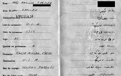 Afghan passport through which Chesler escaped the country (photo: courtesy)