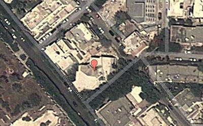 The Russian embassy in Tripoli, Libya (photo credit: screen capture/Google Earth)