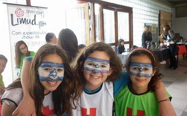Peruvian Jewish children attend Limud Peru 2013 in Lima, on Sunday (Limud Peru via Facebook)