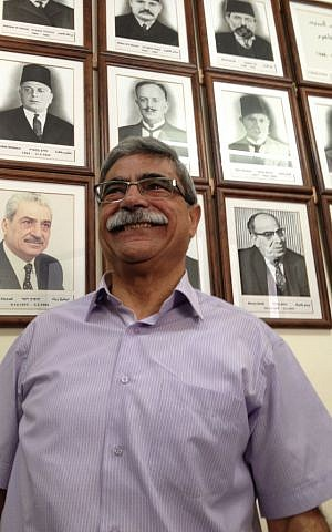 Mayoral incumbent Ramez Jaraisy in his office, October 10, 2013 (photo credit: Elhanan Miller/Times of Israel)