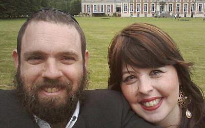Rabbi Chezki Lifshitz and his wife (photo credit: Facebook)